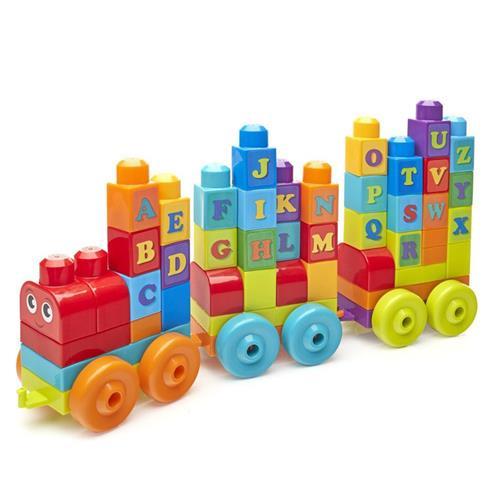 美高 大颗粒积木 字母学习火车 60粒